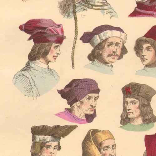 Strange Antique Prints Print Of French Fashion History Hairstyle Short Hairstyles Gunalazisus