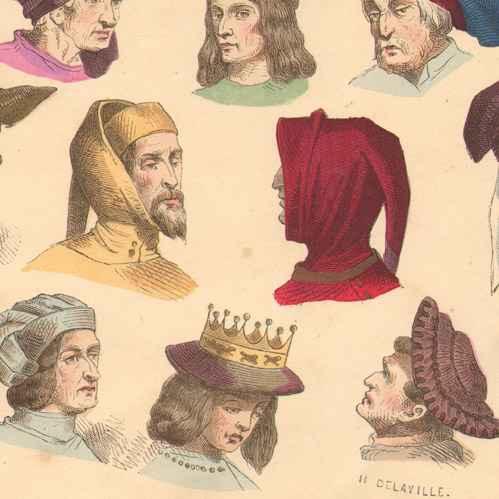 Enjoyable Antique Prints Print Of French Fashion History Hairstyle Short Hairstyles Gunalazisus