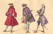 French Fashion History - Costumes of Paris - 18th Century - XVIIIth Century - Redingote - Mode - Fashion during the Reign of Louis XV of France (1729-1750)