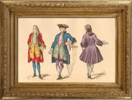 Hist�ria da Moda Francesa - Trajes de Paris - S�culo 18 - S�culo XVIII - Moda durante o Reino de Lu�s XV de Fran�a (1729)