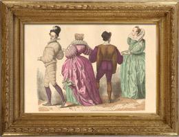 Geschichte der Franz�sischen Mode - Trachten und Kleider von Paris - 16. Jahrhundert - Adel - Mode w�hrend der Herrschaft von Heinrich III. von Frankreich (1584)