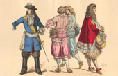 French Fashion History - Costumes of Paris - 17th Century - XVIIth Century - Philippe I, Duke of Orl�ans - Mode - Fashion during the Reign of Louis XIV of France (1663-1671)