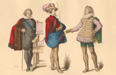 French Fashion History - Costumes of Paris - 17th Century - XVIIth Century - Mar�chal de Souvr� - M. de Bellegarde - M. de Pluvinel, Professor of Equestrianism of Louis XIII of Fra