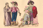 French Fashion History - Costumes of Paris - 17th Century - XVIIth Century - Nobility - Marriage - Order of the Holy Spirit - Louis XIII of France Creating a Knight (1633)