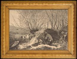 Fischen und Jagen - Jagdszene - Vogel - Ente - Stockente - Affut