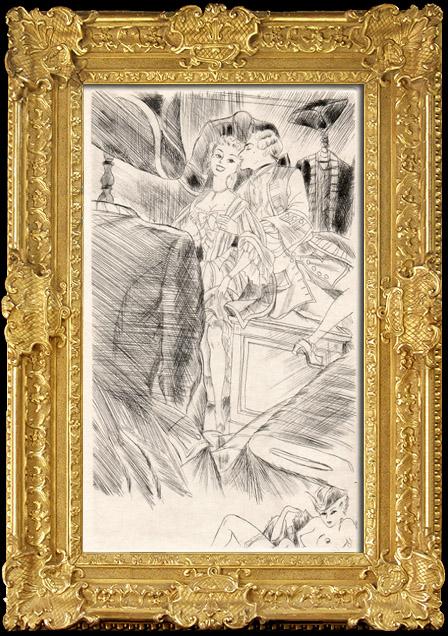 Gravures Anciennes & Dessins   Curiosa - Erotisme - Libertinage - Erotica - Le Marquis de Sade   Héliogravure   1890