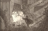 Contes de Perrault - Tales of my Mother Goose - Gustave Doré - The Princess in her Bed - Sleeping Beauty