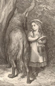 Contes de Perrault - Tales of my Mother Goose - The Little Red Riding Hood and the Wolf - Gustave Doré