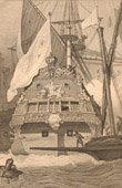 French Naval Ship - French Warship - Galleon of Louis XIV of France (17th Century)