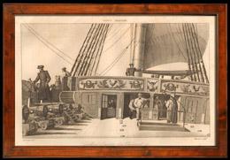 Bataille Navale - Navire de Guerre Français - Gaillard d'Arrière d'un Vaisseau de 74