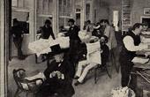 Impressionism - The New Orleans Cotton Exchange - A Cotton Office - Le Bureau de Coton à la Nouvelle Orléans (Edgar Degas - 1873)