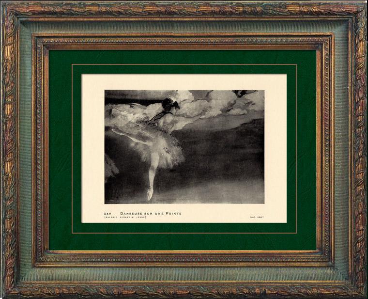Gravures Anciennes & Dessins   Impressionnisme - Ballet - Danseuse sur une Pointe (Edgar Degas - 1876)   Héliogravure   1911