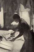 Impressionism - Woman Ironing - Repasseuse � Contre-Jour (Edgar Degas - 1882)