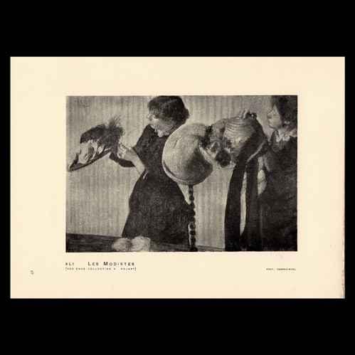 Stampe antiche stampa di impressionismo moda francese for Stampe di campagna francese