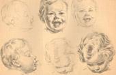 Gravura antiga - Bebês - Recém-Nascido