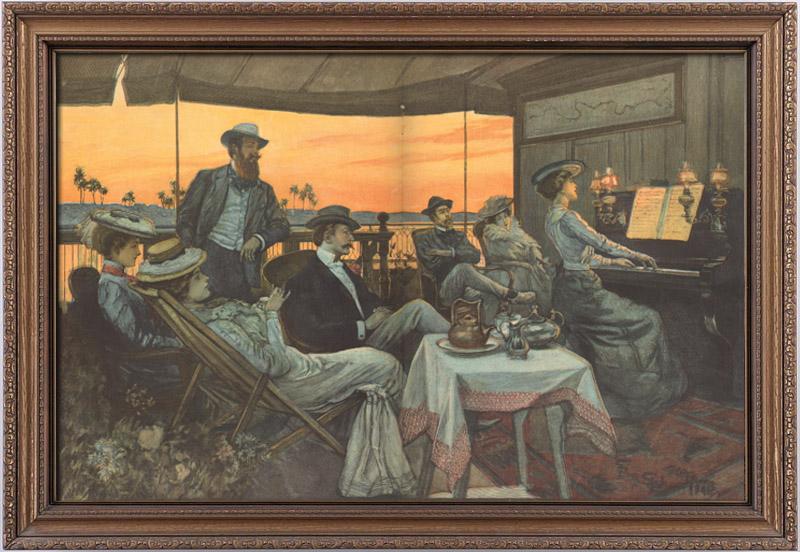 Stampe Antiche & Disegni | Egitto - Barca - Crociera sul Nilo | Incisione | 1901