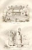 Vietnam - Temple at Saigon - Priest of F� and Novices
