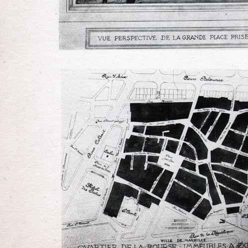 Gravures anciennes dessin d 39 architecte architecture marseille canebi re belsunce - Certificat d heredite avec porte fort ...