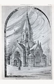 Drawing of Architect - Architecture - Protestant Temple - View (Neukomm)