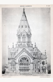 Drawing of Architect - Architecture - Protestant Temple - (Neukomm)
