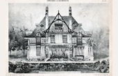 Drawing of Architect - Architecture - Cottage, in Normandy - Pl. 177 ( Ch. Duval)