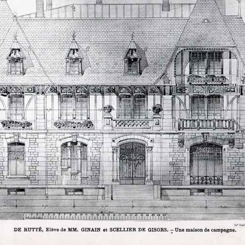Gravures anciennes dessin d 39 architecte architecture for Dessin architecte maison