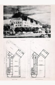 Drawing of Architect - Architecture - Zurich (Switzerland) - Secondary school - Pl. 79 (Bischoff et Weideli)