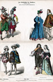 French Costume - French Fashion - Military Uniform - Musketeer - France (17th Century - XVIIth Century)