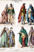 German Costume - German Fashion - Uniform - Germany (14th Century - XIVth Century)