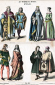 German Costume - German Fashion - Uniform - Germany - Prince (14th Century - XIVth Century)