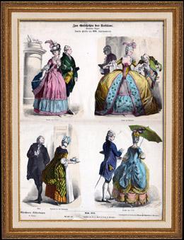 Traje Franc�s - Moda Francesa - Francia (Siglo 18 - Siglo XVIII)