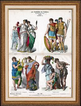 Traje Grego - Roupa - Moda Grega - Grécia Antiga