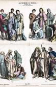 Gravura de Traje Árabe - Roupa - Moda Árabe - Traje Cristão (Século 4 - Século IV)