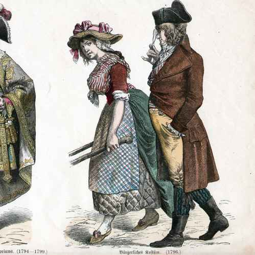 Antique Prints French Costume French Fashion