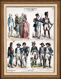 French Costume - Military Uniform - Napoleonic Wars - France - Napoleonic Soldier - Grognard - Infantry - Cavalry - Grenadier (18th Century - XVIIIth Century)