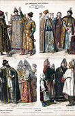 Russian Costume - Russian Fashion - Russia - Prince - Boyar - Bolyar - Tsar (17th Century - XVIIth Century)