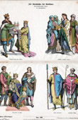 German Costume - Franks - Frankish Costume - King Charles the Bald - Henry II Holy Roman Emperor - Bishop (10th Century - Xth Century)