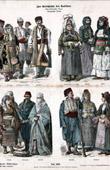 Türkischer Tracht und Kleidung - Kostüme - Türkische Mode - Bulgarische Tracht - Europäische Türkei - Bulgarien - Edirne - Hadrianopel - Monastir - Mazedonien - Bitola - Monastir