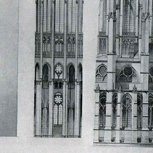 gravures anciennes gravure de dessin d 39 architecte cath drale de beauvais oise france. Black Bedroom Furniture Sets. Home Design Ideas
