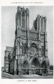 Antique print - Cathedral of Reims (Marne - France)