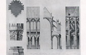 Drawing of Architect - Cathedral Saint-Gervais-et-Saint-Protais of Soissons (Aisne - France)