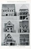 Drawing of Architect - Historic Monument - Granges des Dimes - Rue de Jovy - Rue du Murot - Rue des Capucins - H�tel Vauluizant in Provins  (Seine-et-Marne - France)