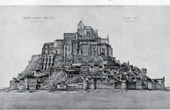 Historic Monument - St Michael's Mount - Mont-Saint-Michel in 1873 (Manche - France)