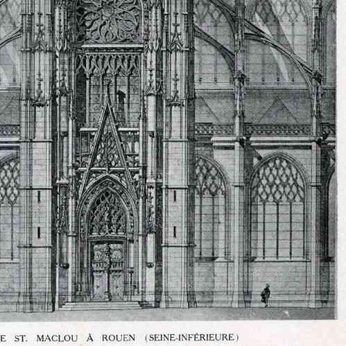 Gravures anciennes dessin d 39 architecte monument - Saint maclou tapisserie ...