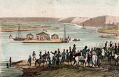 Napoleonic Wars - Meet of Napoleon and the Tsar Alexander I of Russia on the Neman River (1807)