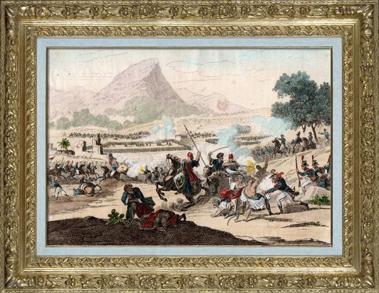 Gravures Anciennes & Dessins   Guerres Napoléoniennes - Campagne d'Égypte - Empire Ottoman - Bataille du Mont-Thabor (1799)   Taille-douce   1837