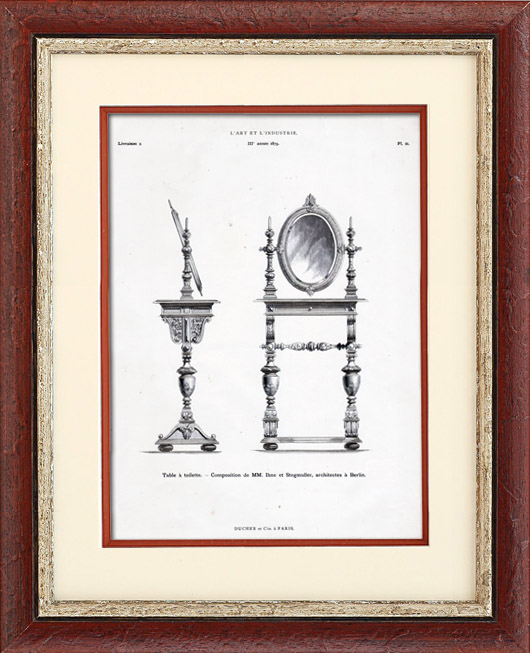 Antique Prints & Drawings | Dressing Table - Berlin (Ihne et Stegmuller) | Typogravure | 1877
