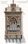 Orgel der Siena Santa Maria della Scalakirche (Italien) - Zeichnung H. Herdtle (Wien)