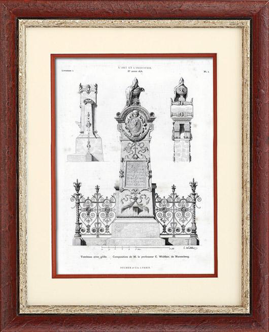 Antique Prints & Drawings | Sepulchre - C. Walther (Nuremberg) | Typogravure | 1877