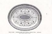 Tablett aus Silber - Girard et Rehlender (Wien) - Hergestellt Ed. Lackner (Wien)